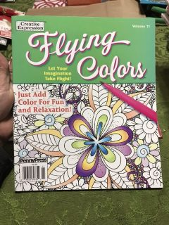 New Creative Expression Flying Colors Volume 11 Advanced Coloring Book
