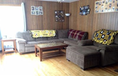 Sectional couch, lounger, oversized chair and ottoman