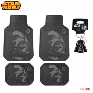 Purchase New 5pc Set Star Wars Dark Vader Car Truck Front Rubber All Weather Floor Mats motorcycle in Monrovia, California, United States, for US $58.94