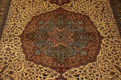 Beautiful Hand Knotted 12 Foot Wool Carpet