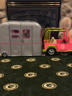 Doll Camper and Jeep