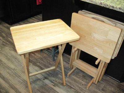 solid wood tv trays
