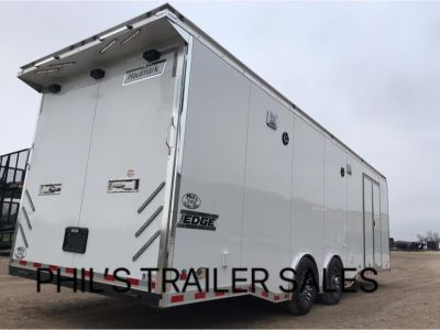 28 Haulmark Edge Pro Race trailer BLACK OR WHITE Haulmark En