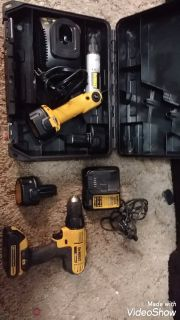 TODAY ONLY first come first serve DeWalt drill and driver set two charges extra batteries like new