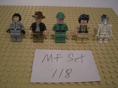 5 Lego Indiana Jones Minifigs Group 118