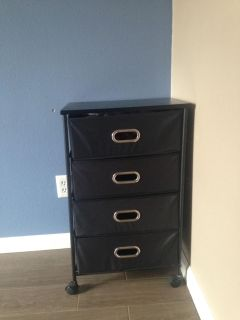 4 fabric drawer rolling cart