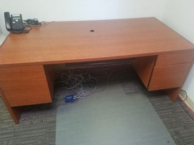 Mahogany Brown Desk. Free!