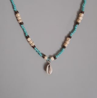 Unisex Summer Surfer Necklace With Cowrie Shell Charm