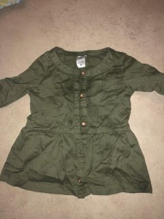 12 month Olive Green Carter Top