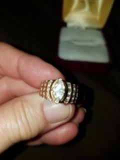 14 kt yellow gold engagement ring