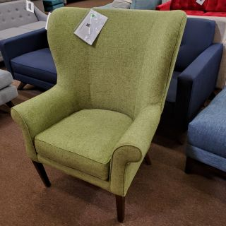 Eye catching green mid century modern wing chair joy bird collection