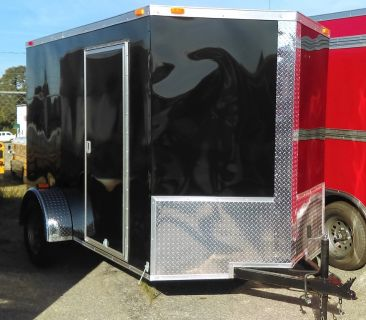6x12 Enclosed Cargo Trailer V nose W ramp