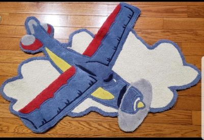Set of 2 cute Pottery Barn Airplane rugs!!!