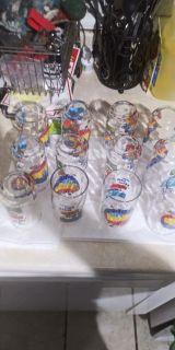 Vintage Pepsi glass set