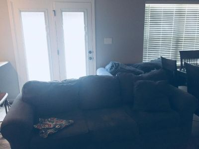 Navy Couch and loveseat