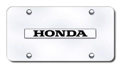 Purchase Honda Name Chrome on Chrome License Plate Made in USA Genuine motorcycle in San Tan Valley, Arizona, US, for US $29.87