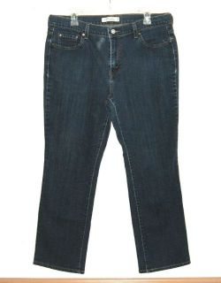 Levis 505 Straight Mid Rise Leg Jeans Womens 14 Short Stretch 14s x 28