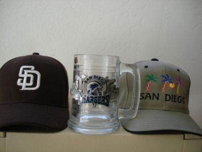 CHARGERS MUG+SAN DIEGO HIS&HER CAPS *