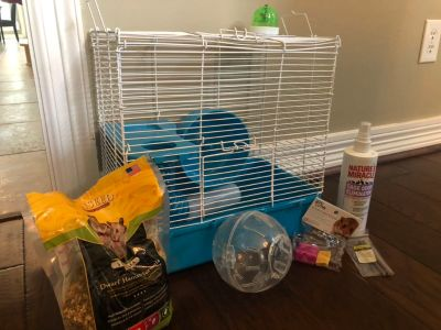 Hamster Cage, food & accessories