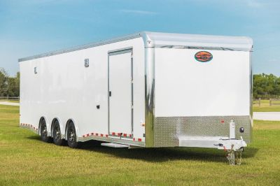 2019 Sundowner 32' Enclosed Race Car Trailer (White)
