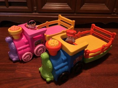 Matching Set of Little People Trains