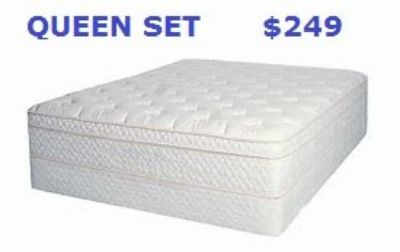 """Queen Mattress and Box """"Ivory"""""""