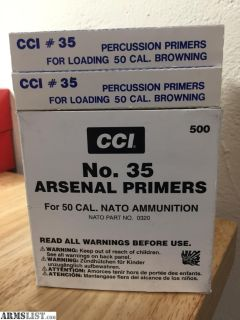 For Sale: CCI#35 50bmg Primers
