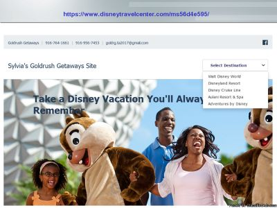 Special Disney Vacation With Your Own Destination Option!!!