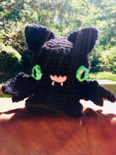 Crocheted Halloween Bat