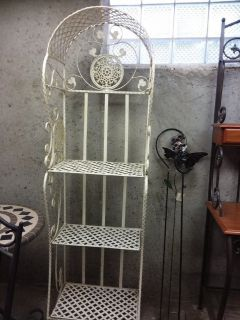 Antique Ornate Italian Iron Shelf