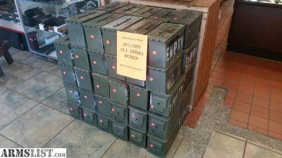 For Sale: .50 cal ammo cans are now $6! Till July 31st