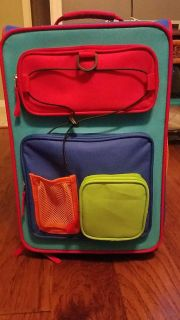 Kids rolling suitcase and wheels light up