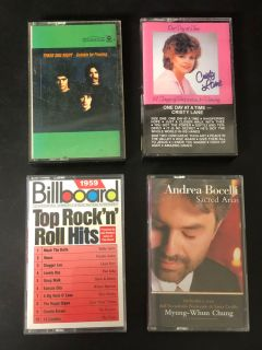 Set of 4 vintage cassette tapes (see description)