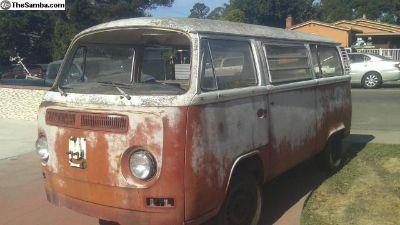 1972 Deluxe original paint dry California bus