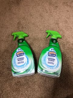 Lot of 2 scrubbing bubbles cleaners