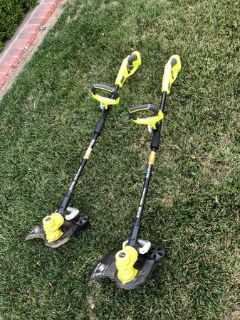 Ryobi battery operated trimmer