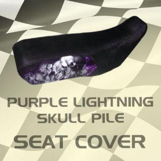 Buy Suzuki LT250EF 85-86 Purple Lightning Skull Pile Seat Cover #jke17672 pwj9682 motorcycle in Milwaukee, Wisconsin, United States, for US $39.99