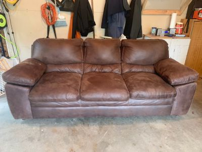 Nice chocolate color microfiber/suede couch
