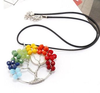 Tree Of Life Necklace Handmade Gemstone Pendant Chakra Jewelry