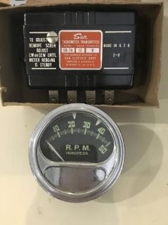 Buy NOS Vintage 6 CYL 12 V Sun Tachometer Transmitter Eb-7A AMC Chevy FORD MOPAR motorcycle in Wheat Ridge, Colorado, United States