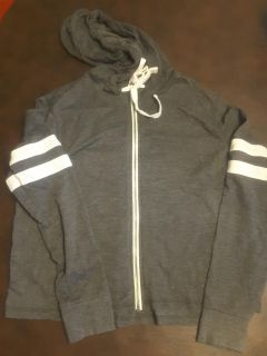 Light weight sweat jacket type with hood size m