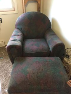 Art Van chair with ottoman.... good condition