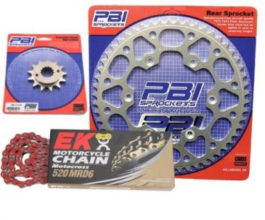 Buy PBI MRD Red 13-46 Chain/Sprocket Kit for Yamaha WR426F 2000-2001 motorcycle in Hinckley, Ohio, United States, for US $136.67