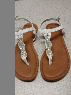 Beautiful white with bling sandals
