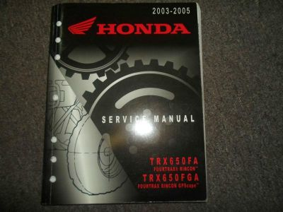 Purchase 2003 2004 2005 Honda TRX650FA TRX650FGA Service Repair Factory Manual OEM 03 04 motorcycle in Sterling Heights, Michigan, US, for US $59.95
