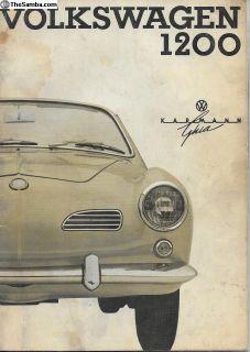 1964 Karmann Ghia Owners Instruction Manual