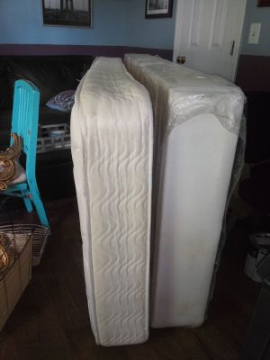 Twin mattress comes with frame.