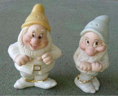 *~~~ Disney ~ S&P ~ Happy/Bashful Dwarfs ~ RARE ~ Lenox ~~~*