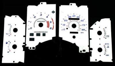 Buy 85MPH Indiglo White Euro Reverse Gauge El Glow Face For 90-93 Ford Mustang LX motorcycle in Monterey Park, California, United States, for US $24.99
