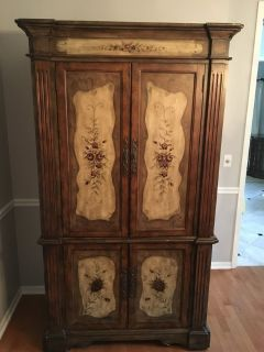 Painted armoire/ tv cabinet